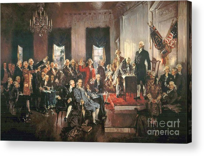 Congress Acrylic Print featuring the painting The Signing Of The Constitution Of The United States In 1787 by Howard Chandler Christy
