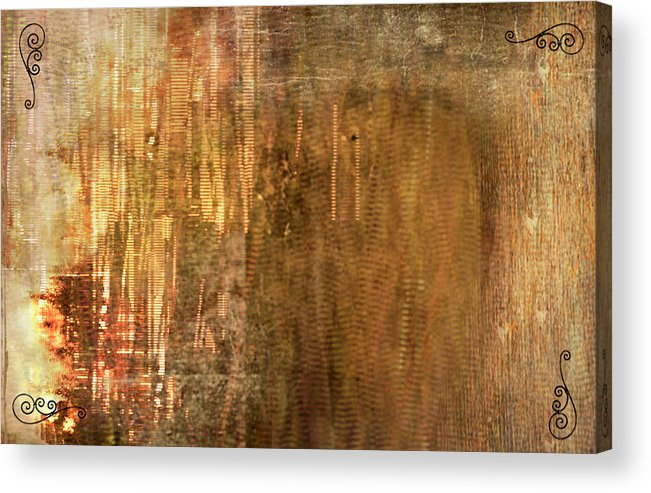Bamboo Acrylic Print featuring the painting Bamboo by Christopher Gaston