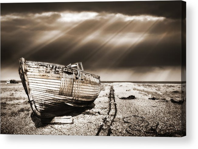 Boat Acrylic Print featuring the photograph Fishing Boat Graveyard 9 by Meirion Matthias
