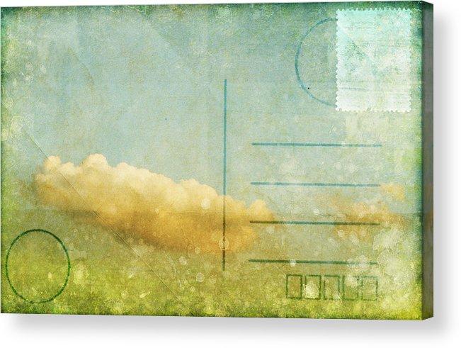 Address Acrylic Print featuring the photograph Cloud And Sky On Postcard by Setsiri Silapasuwanchai