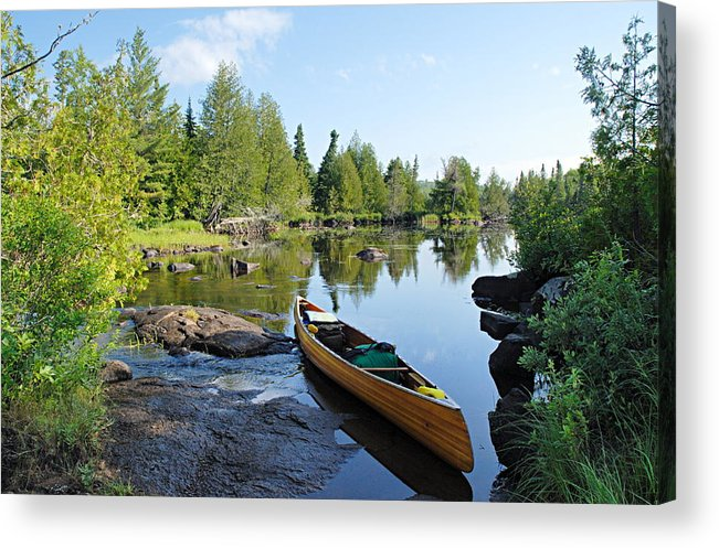 Boundary Waters Canoe Area Wilderness Acrylic Print featuring the photograph Temperance River Portage by Larry Ricker