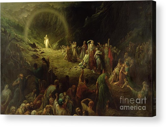 Dore Acrylic Print featuring the painting The Valley Of Tears by Gustave Dore