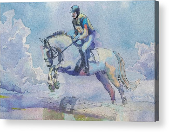 Horse Sport Acrylic Print featuring the painting Polo Art by Catf