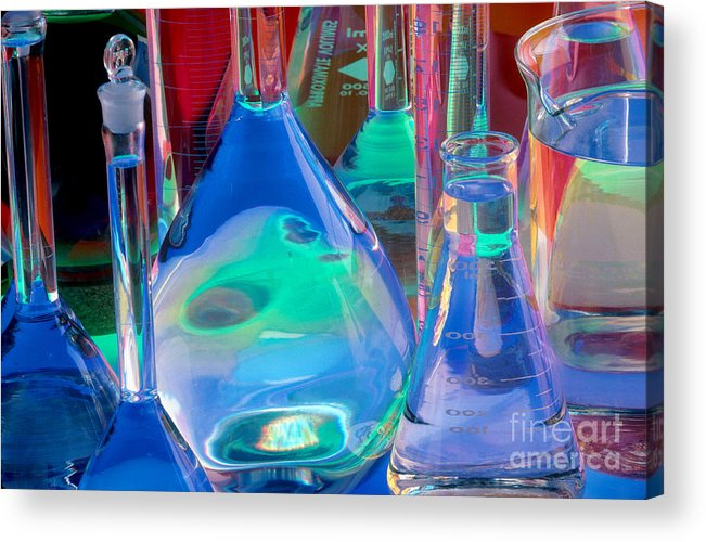 Science Acrylic Print featuring the photograph Laboratory Glassware by Charlotte Raymond