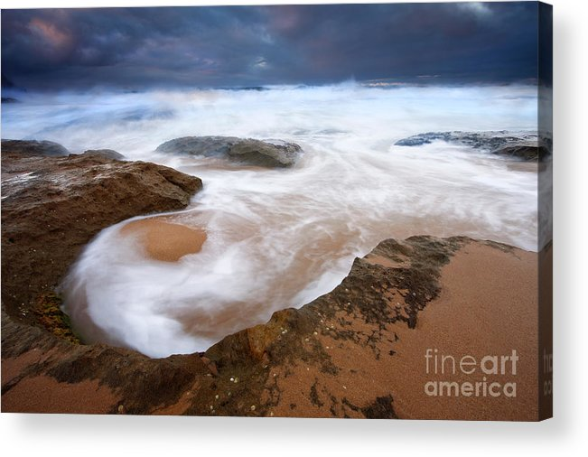 Bowl Acrylic Print featuring the photograph Angry Sea by Mike Dawson