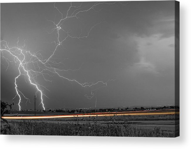 Lightning Acrylic Print featuring the photograph Lightning Thunderstorm Dragon by James BO Insogna