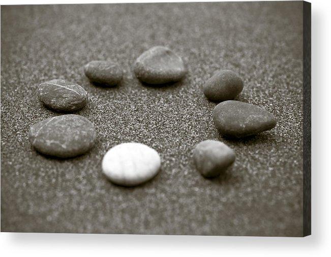 Frank Tschakert Acrylic Print featuring the photograph Pebbles by Frank Tschakert
