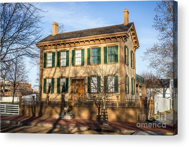 Abraham Acrylic Print featuring the photograph Abraham Lincoln Home In Springfield Illinois by Paul Velgos