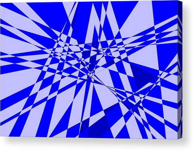 Original Acrylic Print featuring the digital art Abstract 152 by J D Owen