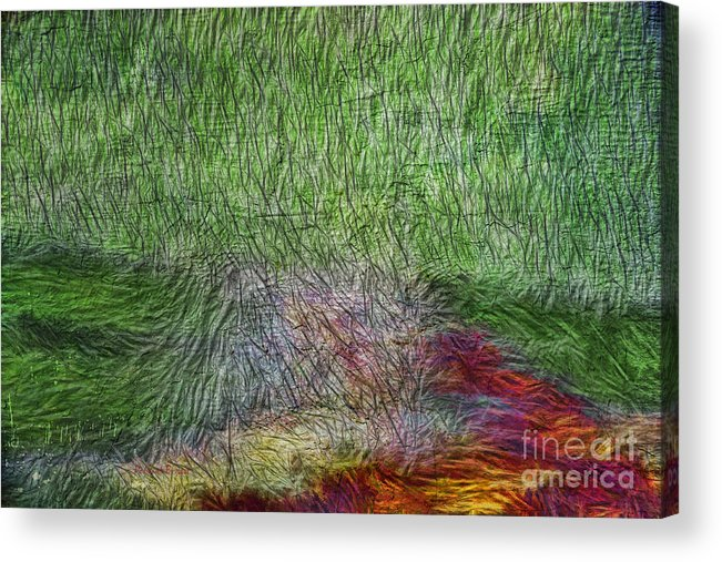 Abstract Acrylic Print featuring the digital art Abstraction Of Life by Deborah Benoit