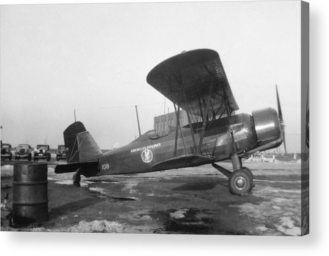 Aa Acrylic Print featuring the photograph American Airlines Stearman by Henri Bersoux
