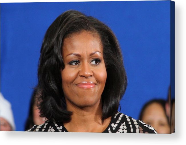 Michelle Acrylic Print featuring the photograph America's First Lady by Mike Stouffer