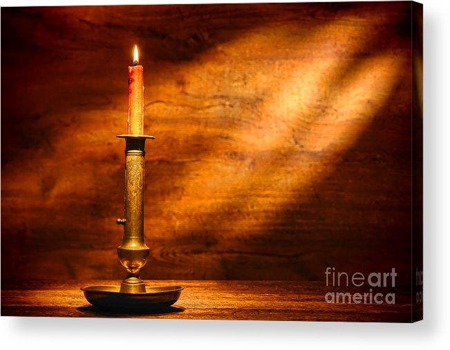 Candlestick Acrylic Print featuring the photograph Antique Candlestick by Olivier Le Queinec