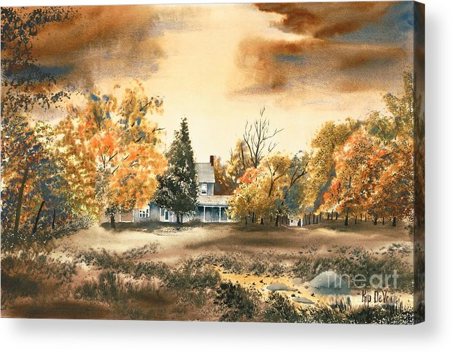Autumn Sky No W103 Acrylic Print featuring the painting Autumn Sky No W103 by Kip DeVore