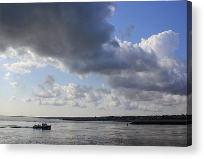 Cape Cod Canal Acrylic Print featuring the photograph Beating The Storm by Amazing Jules