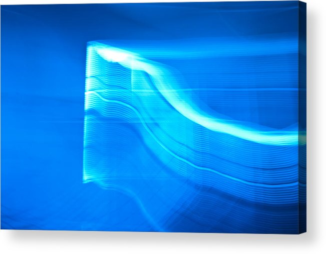 Blue Acrylic Print featuring the photograph Blue Abstract 3 by Mark Weaver