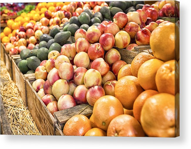 Fruit Acrylic Print featuring the photograph Bounty by Caitlyn Grasso