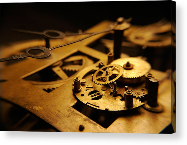 Clock Acrylic Print featuring the photograph Breach Of Time by Jon Emery