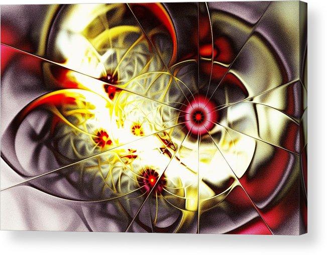Abstract Acrylic Print featuring the digital art Breakthrough by Anastasiya Malakhova