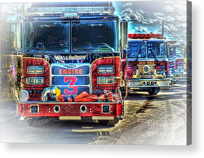 Fire Trucks Acrylic Print featuring the photograph Brute Strength by Arnie Goldstein