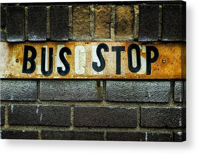 Jeff Acrylic Print featuring the photograph Bus Stop by Jeff Burton