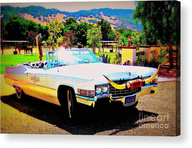 Vintage Acrylic Print featuring the photograph Cadillac Supreme by Jodie Scheller