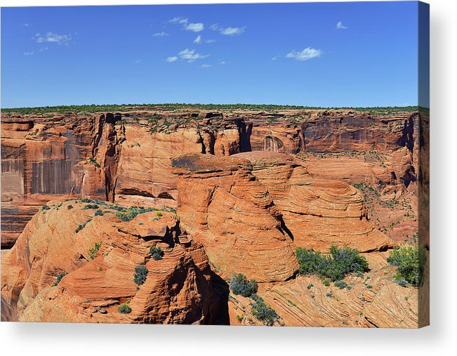 Canyon Acrylic Print featuring the photograph Canyon De Chelly From Sliding House Overlook by Christine Till