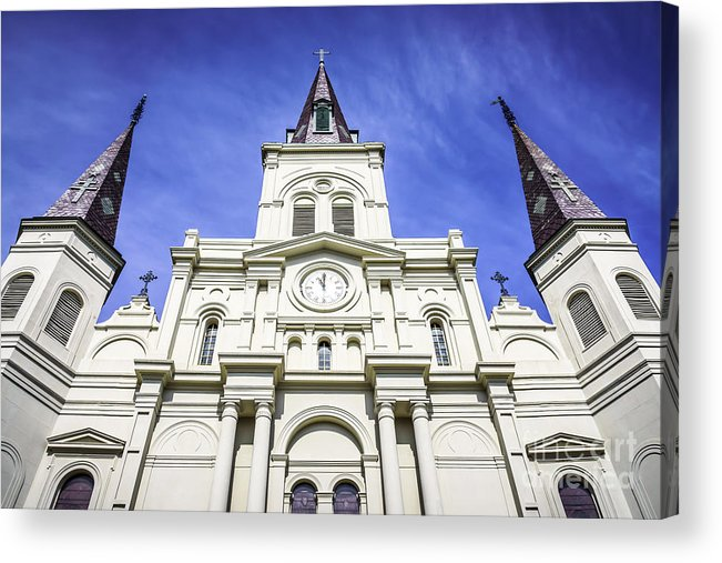 America Acrylic Print featuring the photograph Cathedral-basilica Of St. Louis King Of France by Paul Velgos