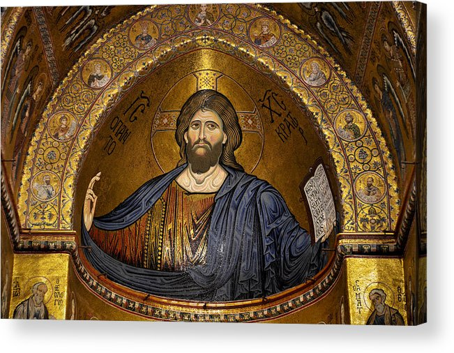 Christ Acrylic Print featuring the photograph Christ Pantocrator Mosaic by RicardMN Photography