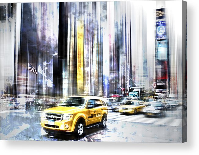 Big Apple Acrylic Print featuring the photograph City-art Times Square II by Melanie Viola