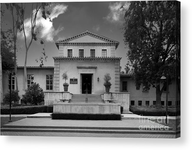 Cgu Acrylic Print featuring the photograph Claremont Graduate University Harper Hall by University Icons
