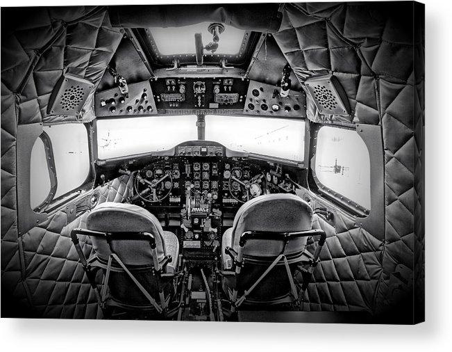 Restoration Acrylic Print featuring the photograph cockpit of a DC3 Dakota by Paul Fell