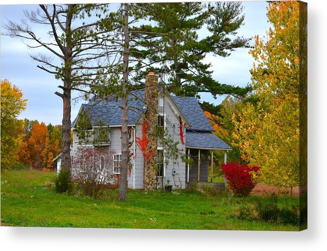 Country Cottage Acrylic Print featuring the photograph Country Cottage by Julie Dant