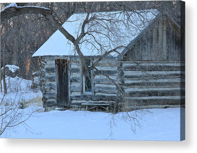 Cabin Acrylic Print featuring the photograph Cozy Hideaway by Penny Meyers