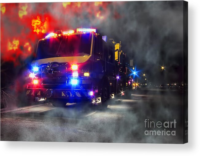 Fire Acrylic Print featuring the photograph Emergency by Olivier Le Queinec