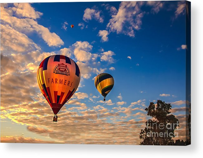 Arizonia Acrylic Print featuring the photograph Farmer's Insurance Hot Air Ballon by Robert Bales