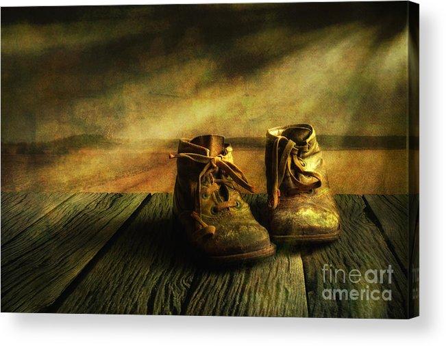 Art Acrylic Print featuring the photograph First Shoes by Veikko Suikkanen
