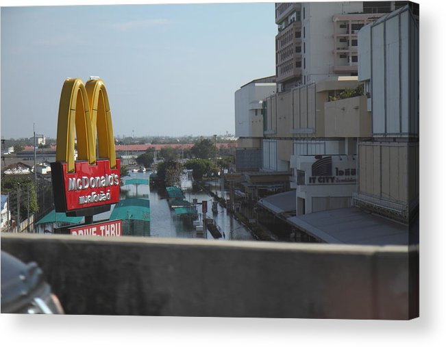 Bangkok Acrylic Print featuring the photograph Flooding Of The Streets Of Bangkok Thailand - 01138 by DC Photographer