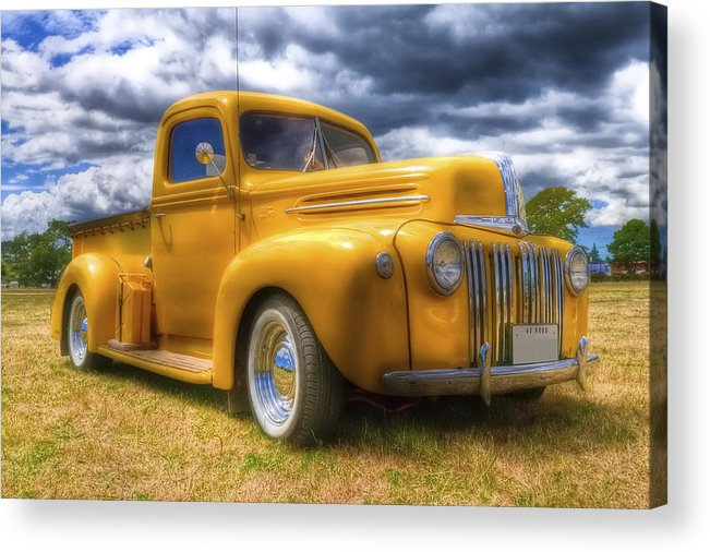 Ford Pickup Acrylic Print featuring the photograph Ford Jailbar Pickup Hdr by Phil 'motography' Clark