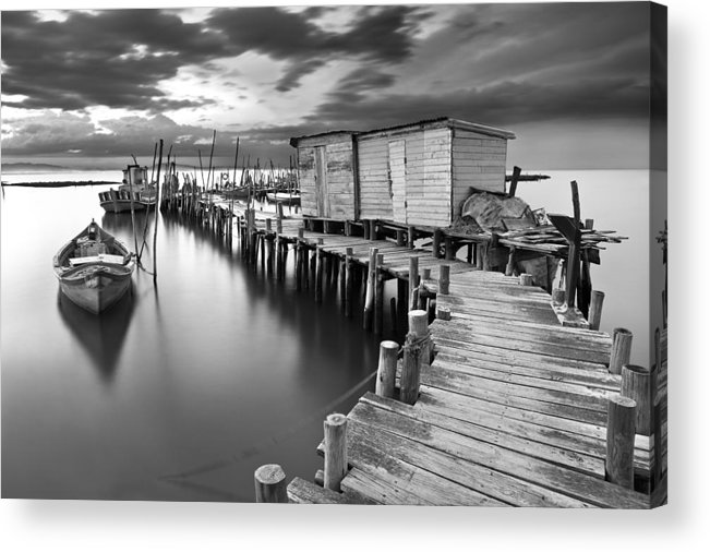 Pier Acrylic Print featuring the photograph Frozen Melody by Jorge Maia