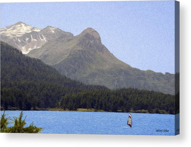 Europe Acrylic Print featuring the painting Going Where The Wind Blows by Jeff Kolker