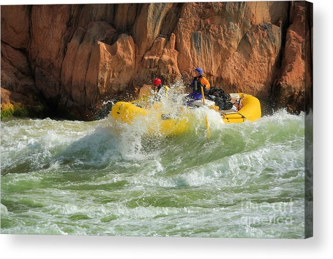 America Acrylic Print featuring the photograph Granite Rapids by Inge Johnsson