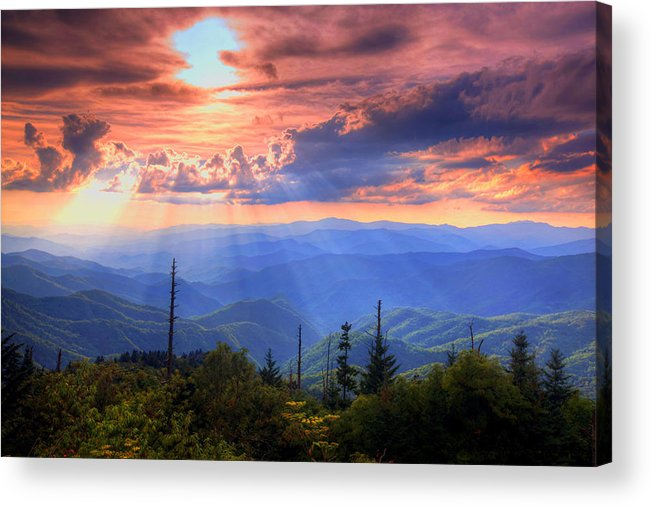 Landscape Acrylic Print featuring the photograph Great Smoky Mountains by Doug McPherson