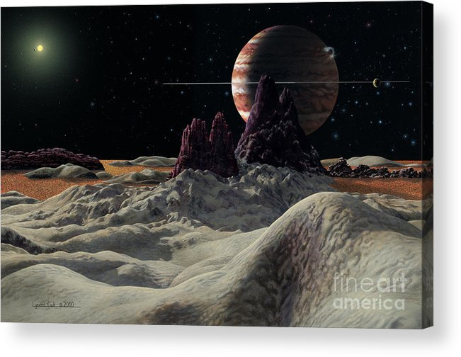 lynette Cook Acrylic Print featuring the painting Hd 168443 System by Lynette Cook