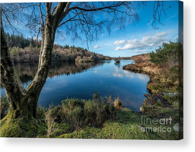 Betws Y Coed Acrylic Print featuring the photograph Hidden Lake by Adrian Evans