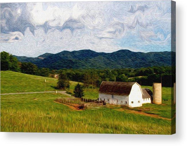 Farm Acrylic Print featuring the painting Impressionist Farming by John Haldane