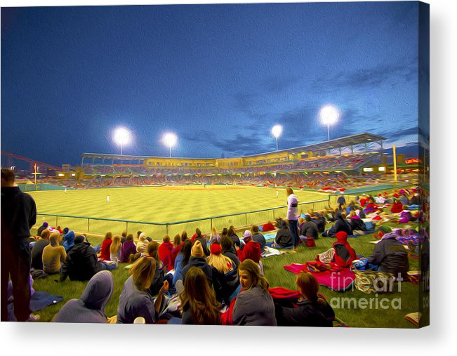 Victory Field Acrylic Print featuring the photograph Indianapolis Indians by David Haskett