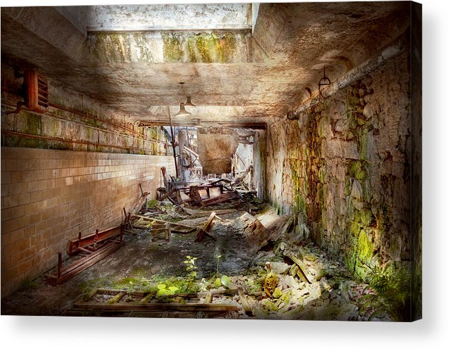 Jail Acrylic Print featuring the photograph Jail - Eastern State Penitentiary - The Mess Hall by Mike Savad