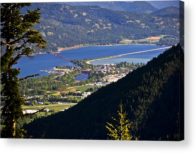 Looking Down On Sandpoint Acrylic Print by Albert Seger
