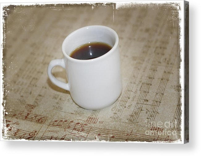 Love Coffee And Music Acrylic Print featuring the photograph Love Coffee And Music by Nina Prommer